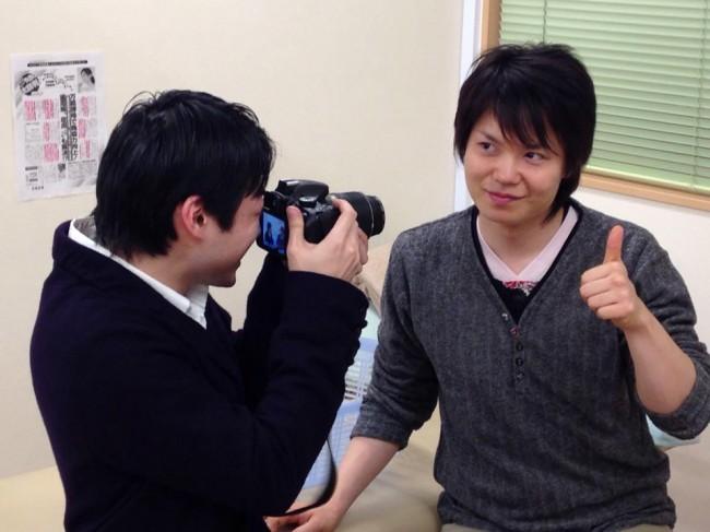 相馬先生の撮影