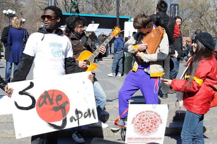 宮城県沖地震の際にNYでボランティア活動