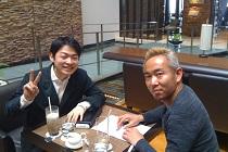 施術協会HP制作のため、金生先生とカフェでミーティング