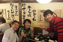 大阪の天王寺で粟田先生と市田先生と飲み会|フィリピンの治療院