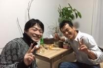 寺田先生と我が家で対面